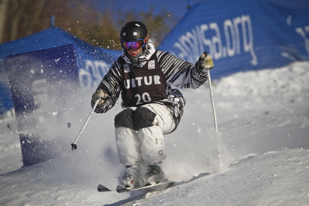 In this 2011 file photo, Troy Murphy of Maine competes at the U.S. Freestyle Selections at Steamboat Ski Resort in Steamboat Springs, Colorado.