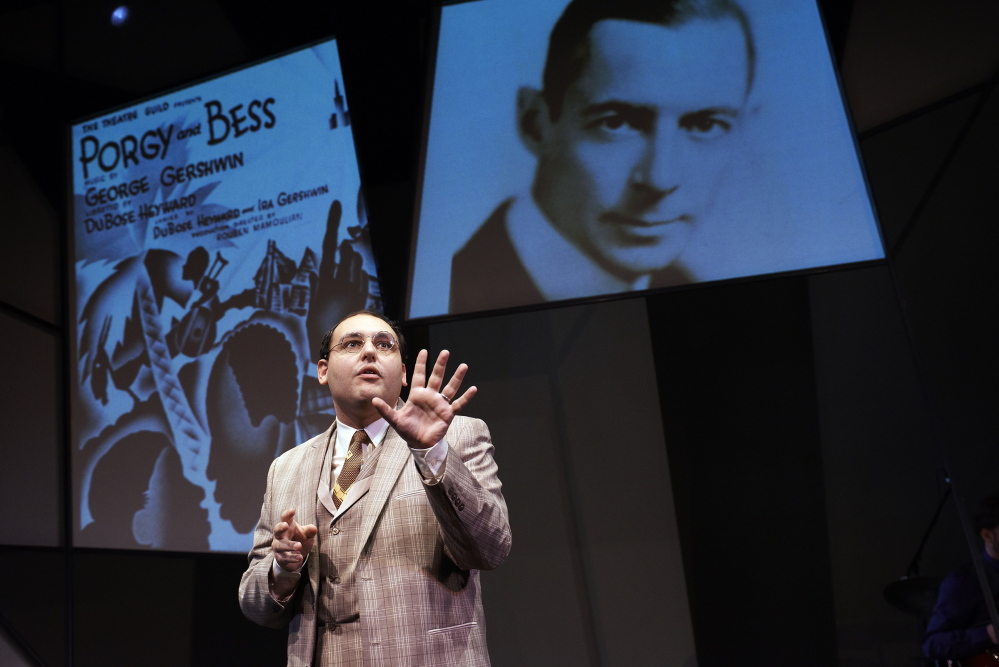 """Nicholas Mongiardo-Cooper portrays the famous lyricist in """"Words By: Ira Gershwin and the Great American Songbook"""" by the playwright Joseph Vass. Mongiardo-Cooper is joined by two singers and a four-piece band."""