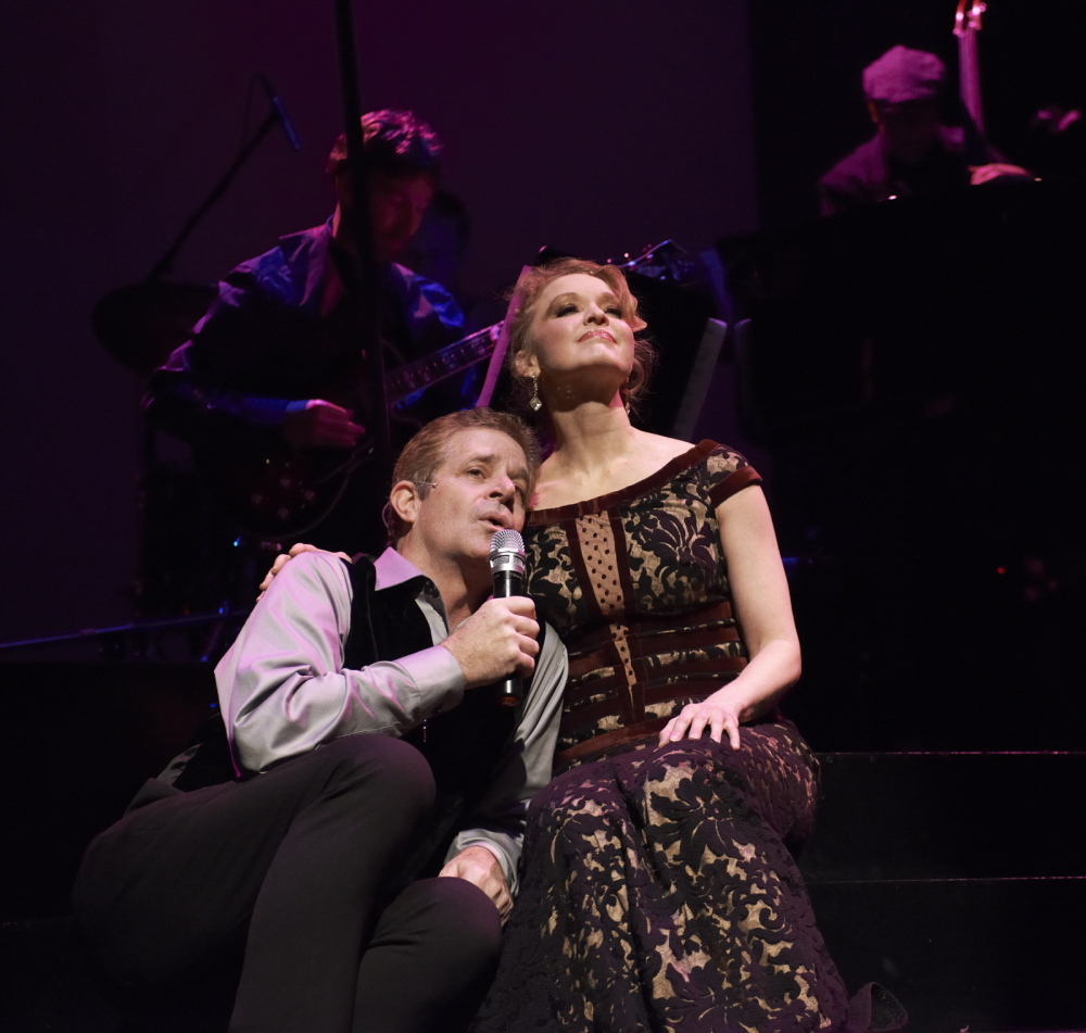 """The Crooner (Robert Yacko) and the Chanteuse (Amy Bodnar) perform one of the two dozen or so Gershwin songs in """"Words By."""""""