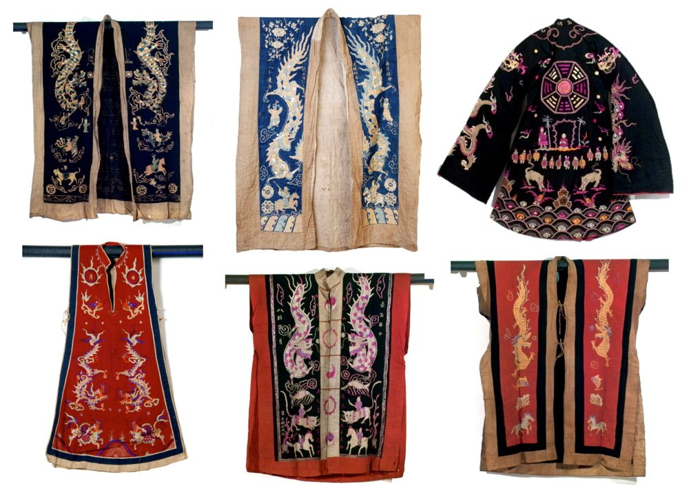 """Yao shaman robes are part of the exhibition """"How to Make the Universe Right: The Art of the Shaman in Vietnam and Southern China,"""" opening Friday at the Bates College Museum of Art in Lewiston."""