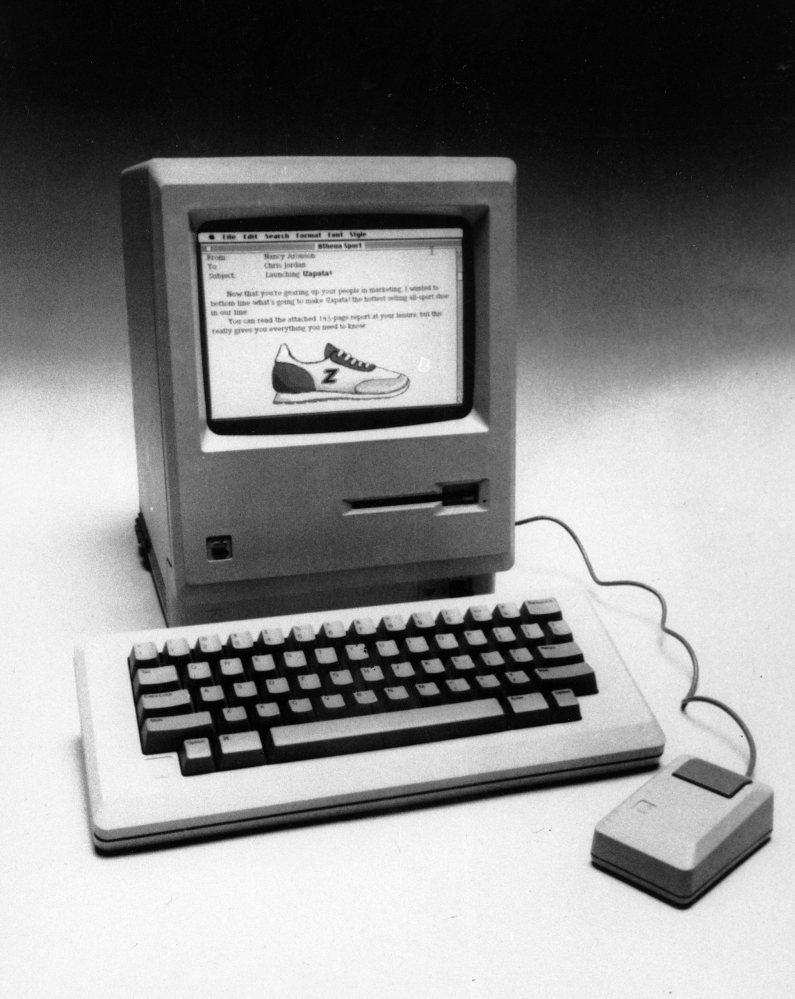 The Apple Macintosh was unveiled in Cupertino, Calif., in 1984.