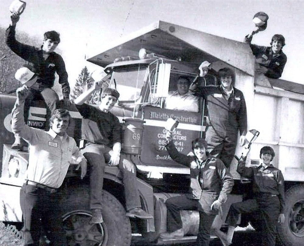 Louis Maietta is pictured with his sons in the 1970s. Mr. Maietta founded his construction company in 1968.