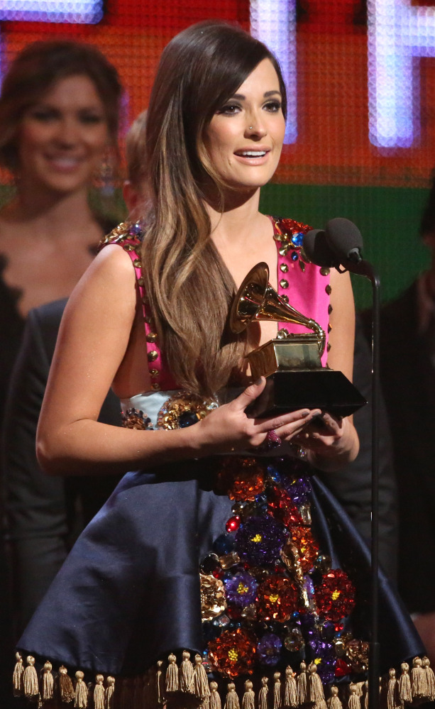 Kacey Musgraves accepts the award for Best Country Album.
