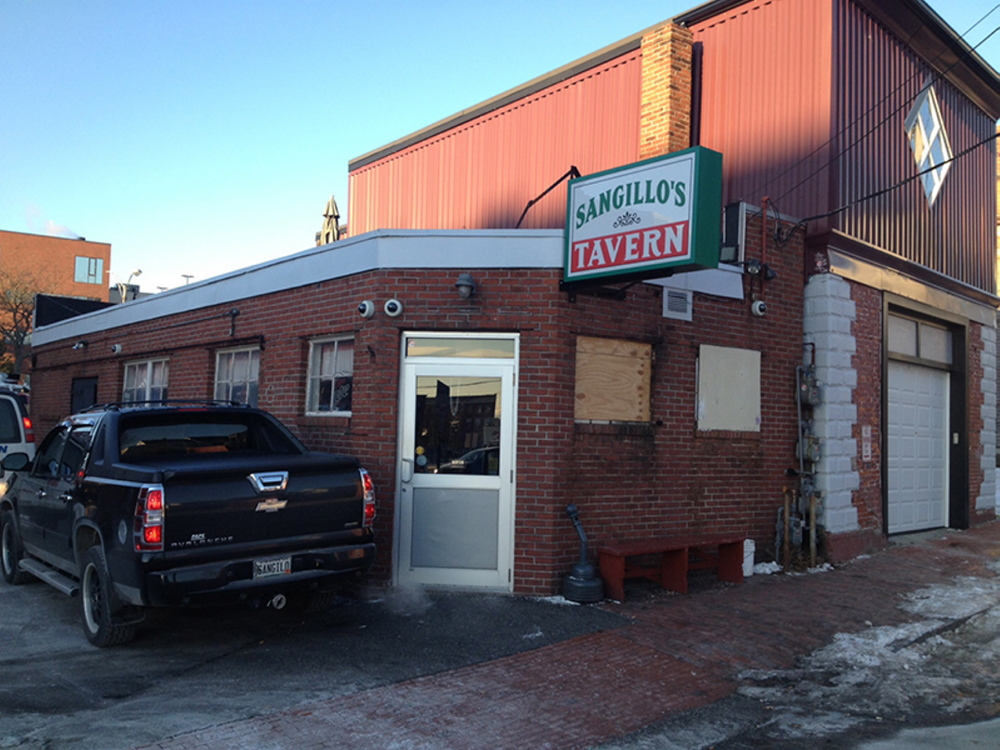 Sangillo's Tavern, 18 Hampshire St, the site of a shooting, which happened at 1:21 a.m. Tuesday.