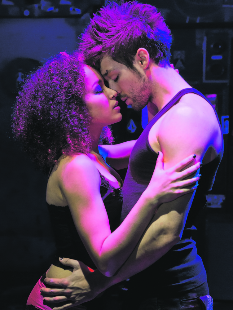"""Olivia Puckett (Whatsername) and Jared Nepute (Johnny) in """"American Idiot."""""""