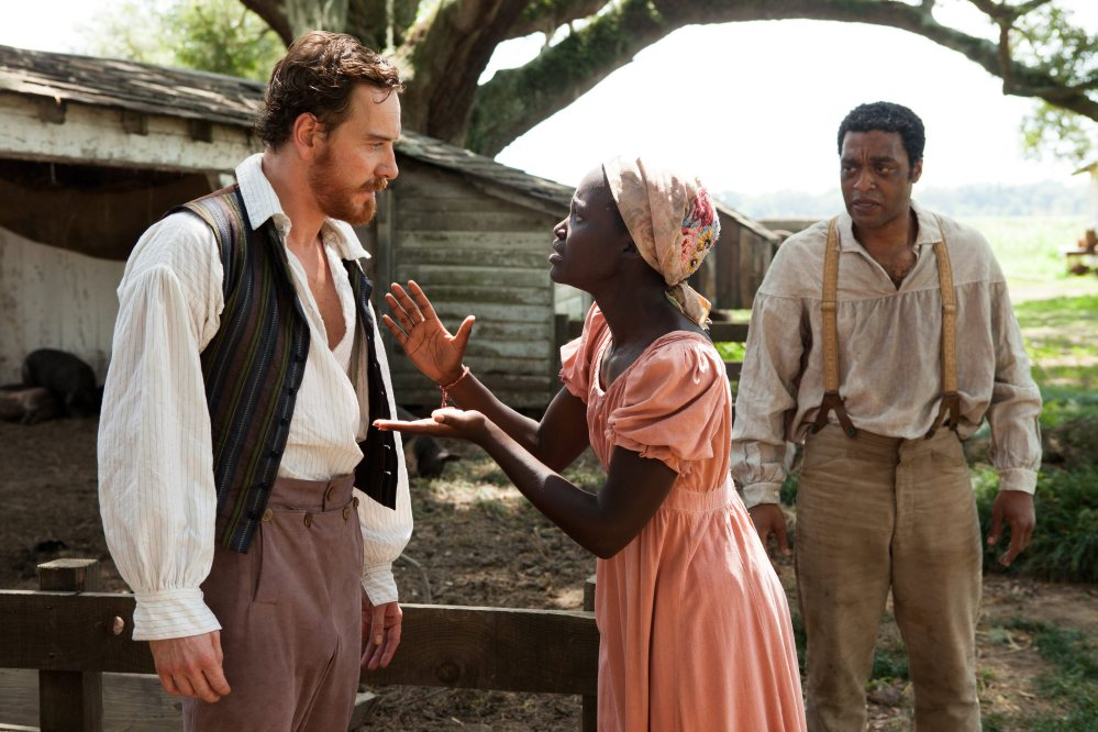 """Should win: Chiwetel Ejiofor, right, with co-stars Michael Fassbender and Lupita Nyong'o, deserves Best Actor for his role in """"12 Years a Slave,"""" which deserves Best Picture."""