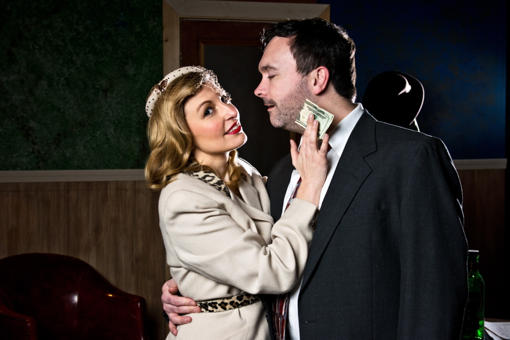 """""""Gunmetal Blues,"""" a musical spoof, is on stage at City Theater in Biddeford through Sunday."""