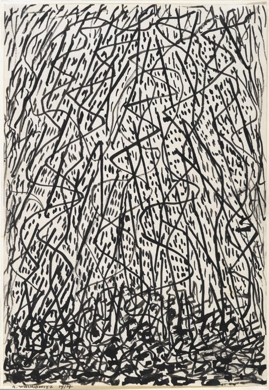 """""""Improvisations of New York"""" by Abraham Walkowitz is part of the """"Fine Lines"""" exhibit of drawings at the Portland Museum of Art."""