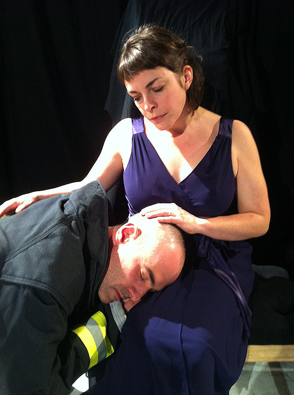 Janice Gardner and Mark Rubin in Mad Horse Theatre's