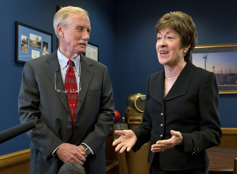 Sen. Angus King and Sen. Susan Collins