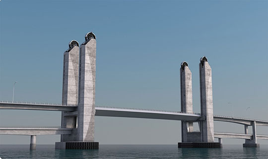 This design is proposed to replace the Sarah Mildred Long Bridge.