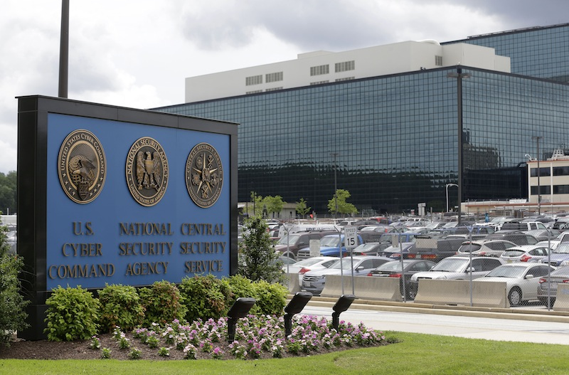 """This June 6, 2013 file photo shows a sign outside the National Security Agency (NSA) campus in Fort Meade, Md. An analysis of 225 terrorism cases inside the United States since the Sept. 11, 2001, attacks has concluded that the bulk collection of phone records by the National Security Agency """"has had no discernible impact on preventing acts of terrorism."""""""