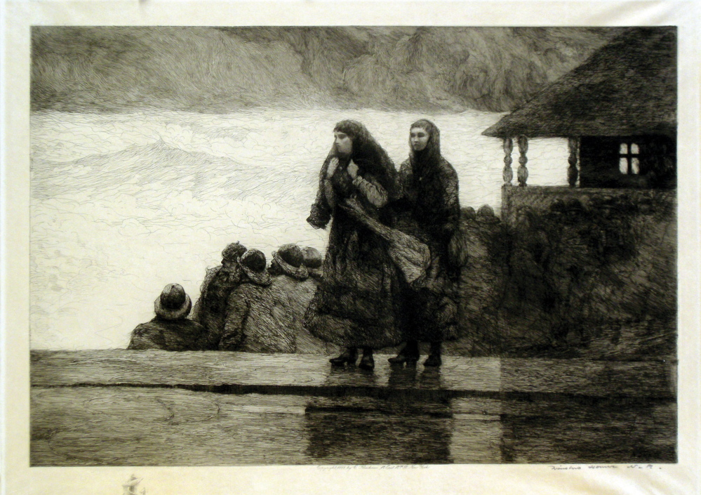 """""""Perils of the Sea"""" by Winslow Homer."""