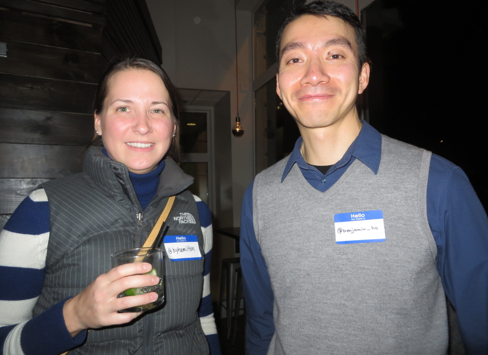 Brooke Hamilton of South Portland and Benjamin Ho of Scarborough.