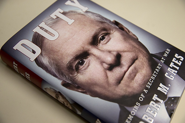 """Former Defense Secretary Robert Gates' highly anticipated book, """"Duty: Memoirs of a Secretary of War,"""" was released in January."""