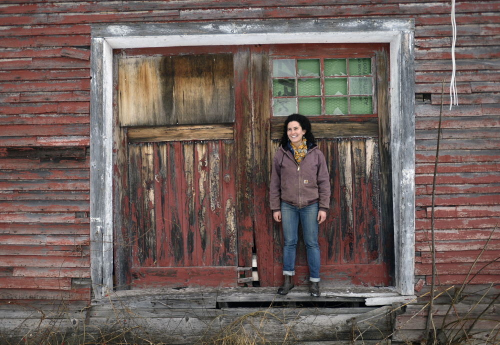 """Maina Handmaker was a """"totally naive, dreamy-eyed Bowdoin student"""" four years ago when she proposed using the ramshackle barns behind her to house a permanent farmers market in Brunswick."""