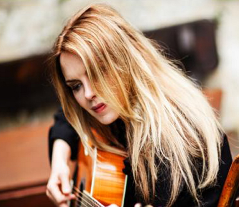 Singer-songwriter Mary Fahl performs at One Longfellow Square in Portland on April 18.