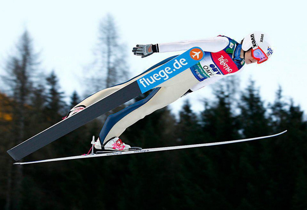 """Sarah Hendrickson is one of the women ski jumpers in the documentary """"Ready to Fly,"""" which is part of the Banff Mountain Film Festival at The State Theatre on Sunday and Monday."""