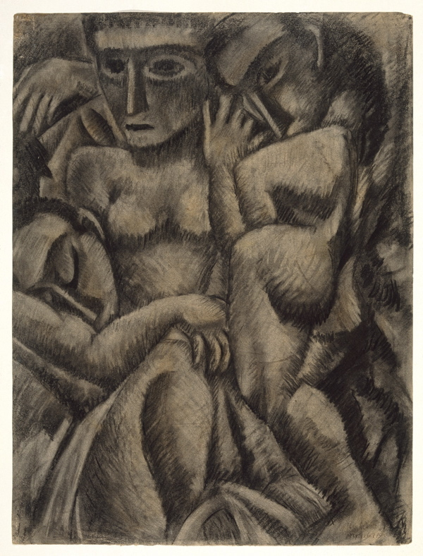 """""""Composition with Four Figures"""" by Max Weber, 1910."""