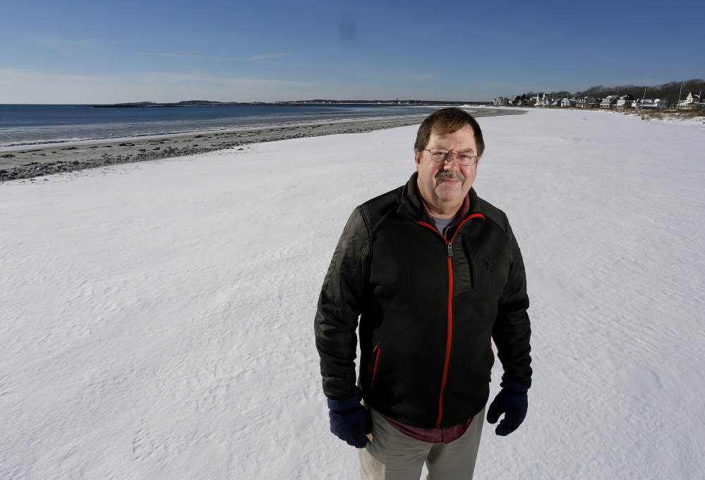 """Bob Scribner of Kennebunkport, a beachfront property owner, says, """"The public is welcome to use the beach. But they are going to use it with respect."""""""