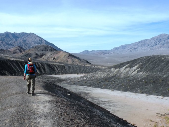 At Death Valley, Ubehebe Crater was formed when the heat of magma turned water into steam, resulting in a geological wonder and a must-hike adventure for those passionate about trekking.