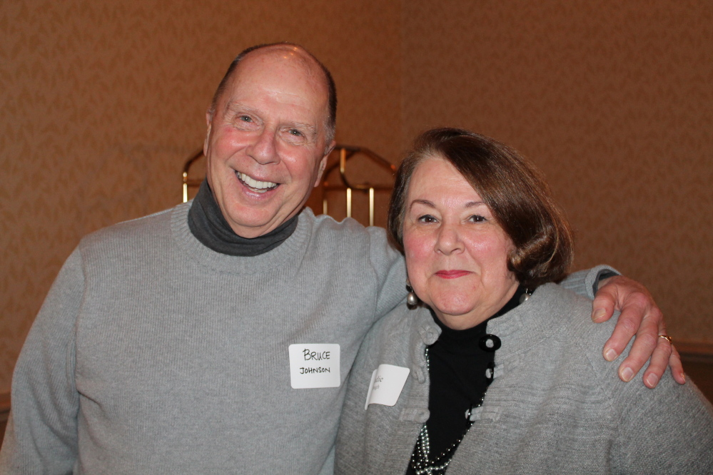 PSO volunteers Bruce Erwin Johnson of Portland with Judie Clough of South Portland.