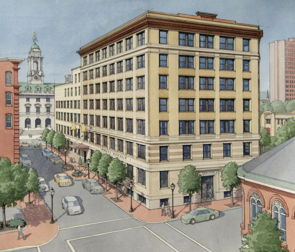 An artist's rendering of the Press Hotel, which is set to open April 1, 2015.