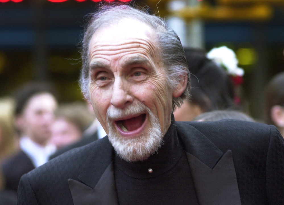 """Sid Caesar, star of """"Your Show of Shows,"""" arrives at NBC's 75th anniversary celebration in New York. Caesar, whose sketches lit up 1950s television with zany humor, died Wednesday. He was 91."""