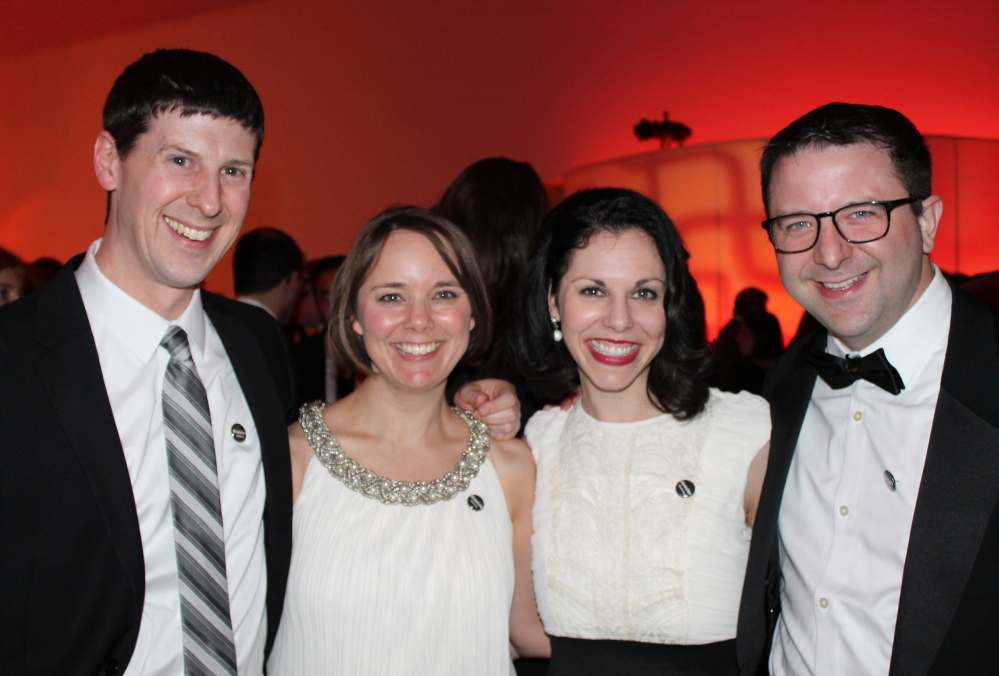 Brandon Baldwin and his wife, Shenna Bellows, of Manchester, with friends Jennifer and Bryan Shumway of Scarborough.