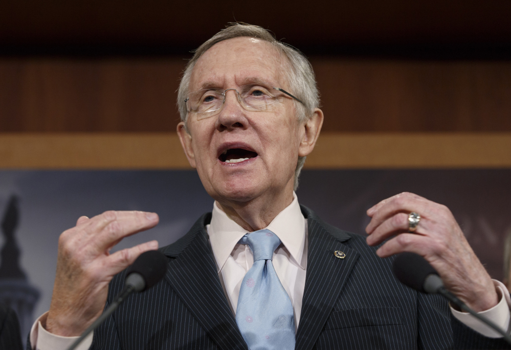 """Senate Majority Leader Harry Reid, D-Nev., has said, """"I'm against fast track."""""""