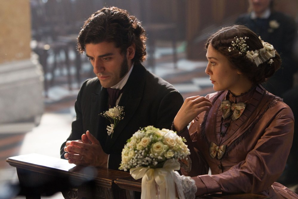 "Oscar Isaac, left, appears as Laurent LeClaire, and Elizabeth Olsen as Therese Raquin in director and screenwriter Charlie Stratton's film, ""In Secret."" The story is based on Emile Zola's novel, ""Therese Raquin."""