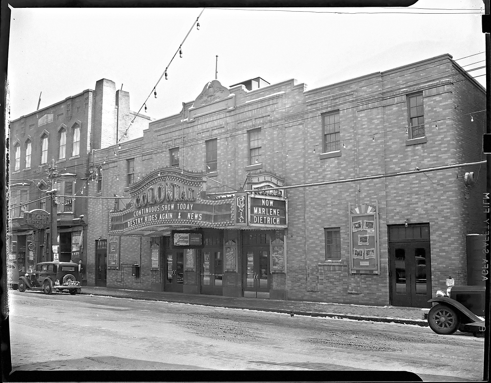 This 1940 photo shows the Colonial Theater on Water Street in downtown Augusta.