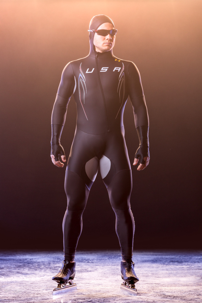 Under Armour touted the Mach 39 suit as the world's fastest speedskating suit.