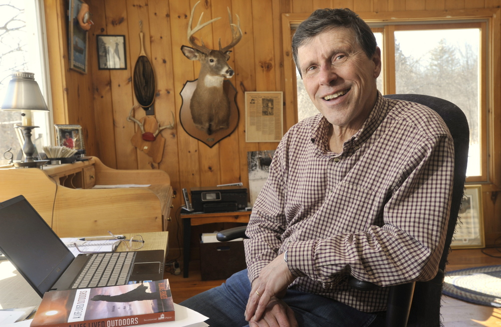 A rustic office in his Mount Vernon home is where George Smith, the former Sportsman's Alliance of Maine lobbyist, does his writing. He's just released a compilation of columns selected from more than 25 years of opining for Maine newspapers.