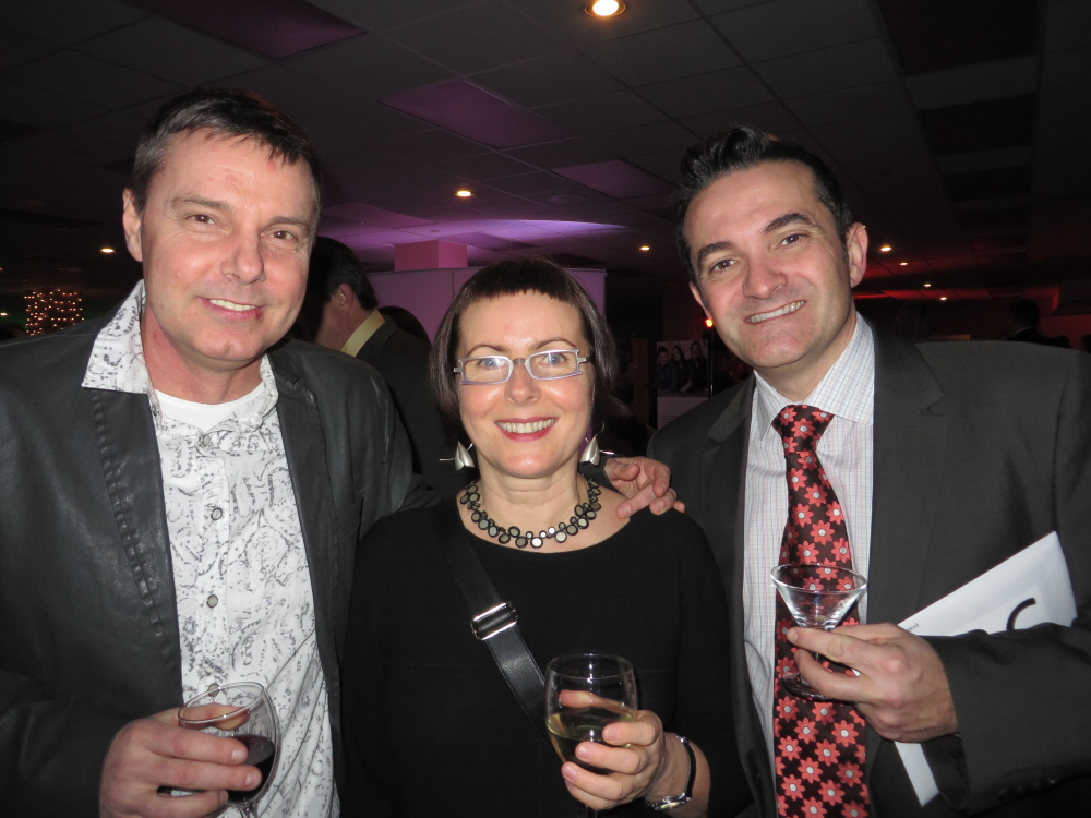 Mariusz and Judyta Jankowski of Portland, with Jacques Santucci of Falmouth, husband of board member Patricia Rosi-Santucci.