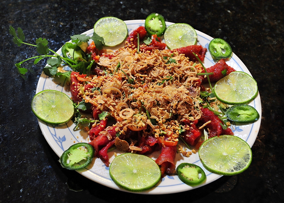 The rare beef salad at Thanh Thanh 2 in Portland was a favorite with Andrew Taylor, chef/co-owner at Hugo's and Eventide Oyster Co. in Portland, and with Karl Deuben and Bill Leavey, chef/owners of the Small Axe food truck in Portland.