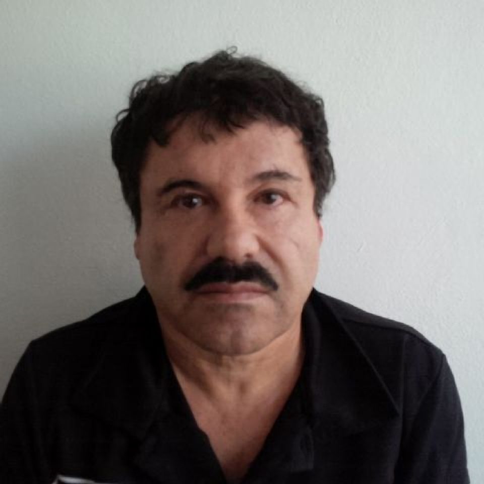 """In this image released by Mexico's Attorney General's Office, Joaquin """"El Chapo"""" Guzman is photographed against a wall after his arrest in the Pacific resort city of Mazatlan, Mexico."""