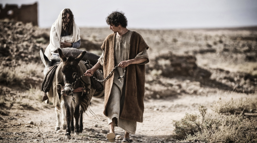 """Leila Mimmack and Joe Coen as a young Mary and Joseph in a scene from """"Son of God."""""""