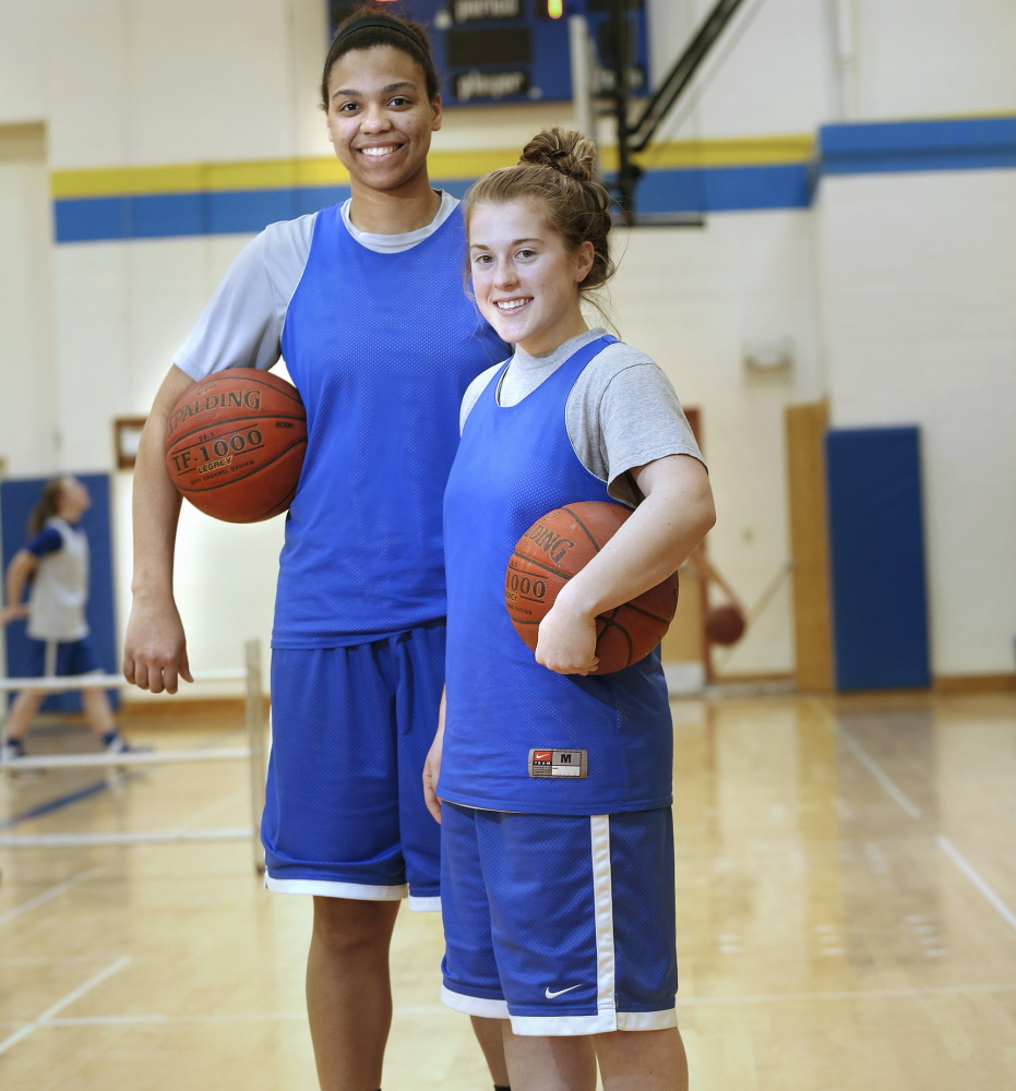 Lake Region owes much of its success to 6-foot-2 center Tiana-Jo Carter and 5-2 point guard Sarah Hancock, who have helped the Lakers to a 20-1 record and a third straight berth in the state championship game.