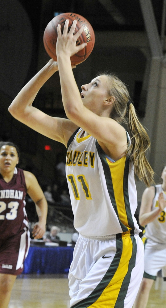 Olivia Smith is one of two McAuley starters who will play Division I basketball next year. She's going to Dartmouth.