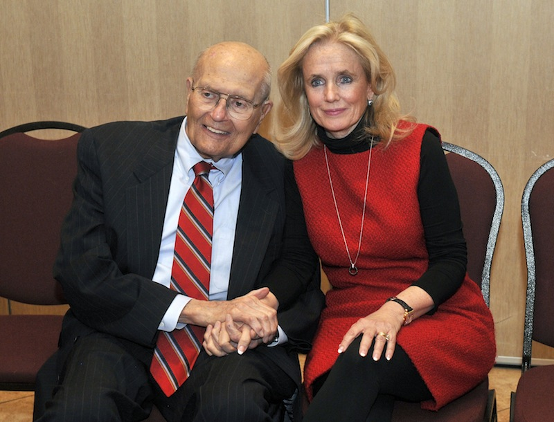 U.S. Rep. John Dingell, left, and his wife, Debbie, attend a legislative forum at the Southern Wayne County Regional Chamber at the Crystal Gardens in Southgate, Mich. on Monday.