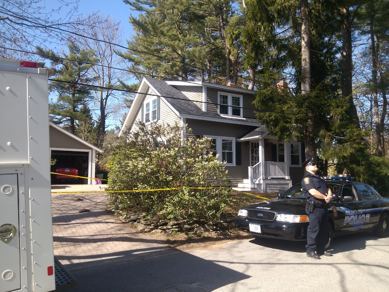 Andrew Leighton, 44, shared this home on Edgewater Road in Falmouth with with his parents, police say.