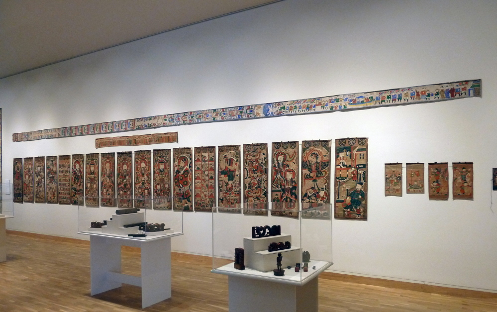 """The Art of the Shaman in Vietnam and Southern China,"" continuing through March 21 at the Bates College Museum of Art in Lewiston, features some 350 painted scrolls, masks, robes and other sacred objects of Yao and Tay Shamans."