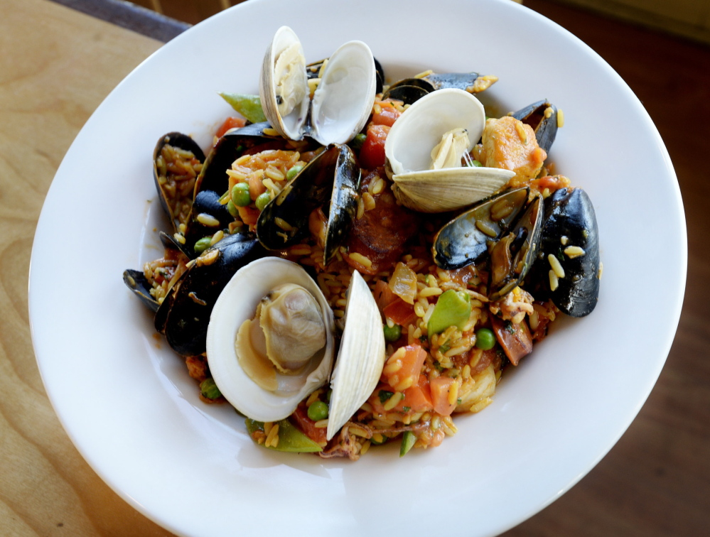 The paella at Federal Jack's, served up hot and fresh.