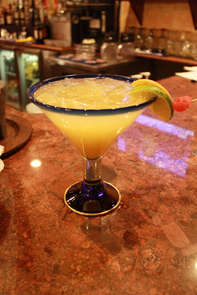 The house margaritas, in regular ($7.25) and grande ($9.25) sizes, are large enough for sharing.