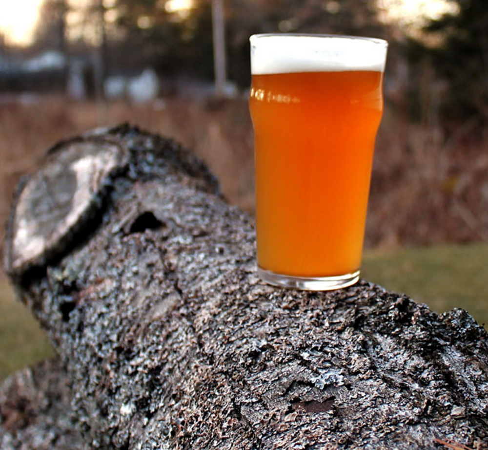 Foundation Brewing Co.'s Blaze, a saison-IPA hybrid, is one of the Portland brewery's first two beers.