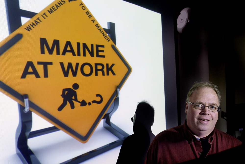"""David Greenham has written a one-man presentation, """"Maine at Work,"""" that looks at the history of jobs in Maine."""