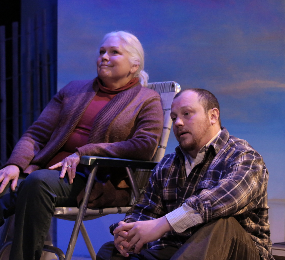"""Florence Lacey and J.P. Guimont in """"The Outgoing Tide,"""" which follows a family grappling with the onset of dementia."""