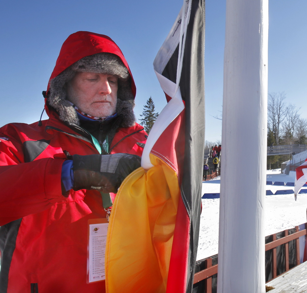 Nova Scotia's Murray Wylie, president of Biathlon Canada, was proudest when he got to raise the Canadian flag on behalf of one of his countrywomen.