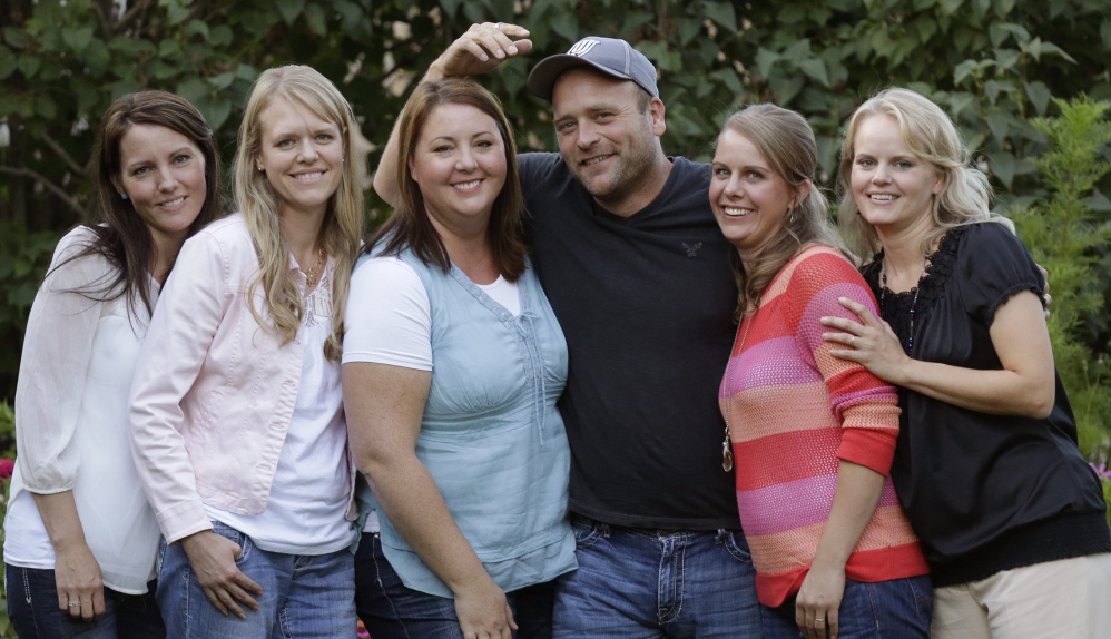 """Brady Williams and his wives, from left, Paulie, Robyn, Rosemary, Nonie and Rhonda, are featured on TLC's """"My Five Wives."""""""